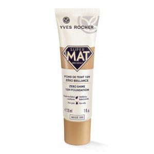 Kem nền mịn lì Yves Rocher Zero Shine Super Mat Foundation Beige 200 30ml
