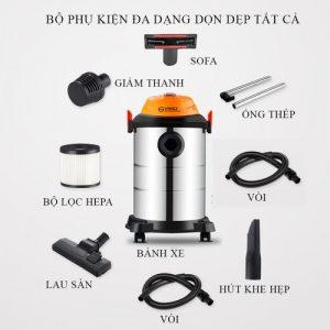 máy hút bụi dùng trong công nghiệp Yili 15L