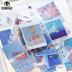 Bộ 40 miếng sticker Mr.Paper in ảnh chụp 4 kích thước- 19.400đ