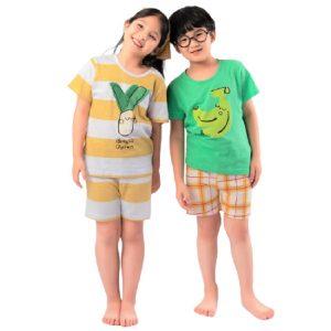 Bộ đồ ngắn bé gái, bé trai Unifriend Hàn Quốc cho bé 1-10 tuổi - 167.000đ