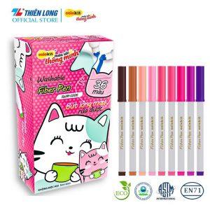 Bút lông 36 màu Fiber Pen Washable
