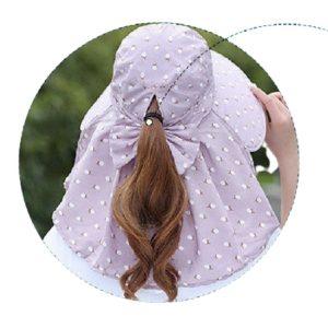 Mũ Nón rộng vành chống nắng cực mát có khẩu trang 2 lớp bảo vệ sức khỏe kèm dây thắt - SAU