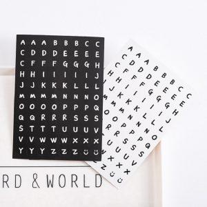 Sticker dán hoạ tiết chữ cái tiếng Anh hỗ trợ trang trí sổ tay DIY tiện dụng - 2.600đ